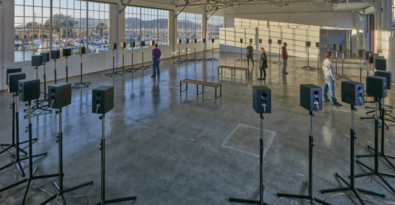 The Forty Part Motet installed at Fort Mason Center