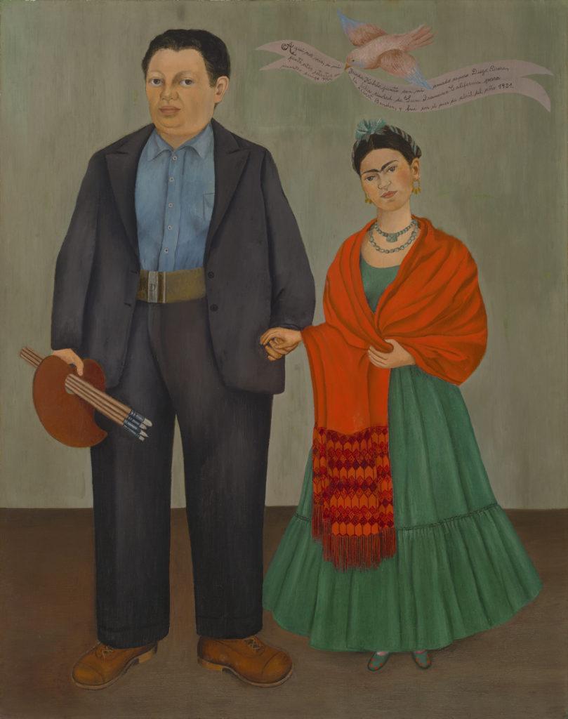 Artwork image, Frida Kahlo's Frieda and Diego Rivera, 1931