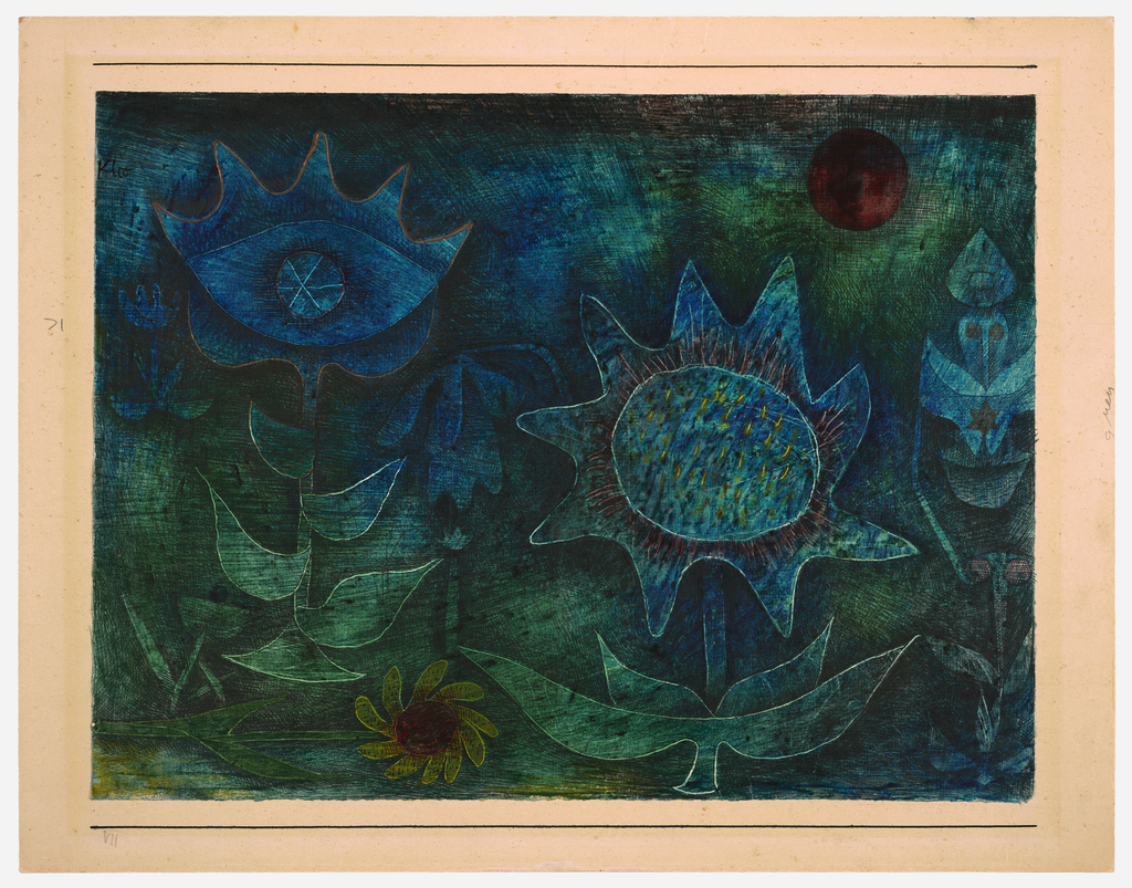 Artwork image, Paul Klee Blüten in der Nacht (Blossoms in the Night)