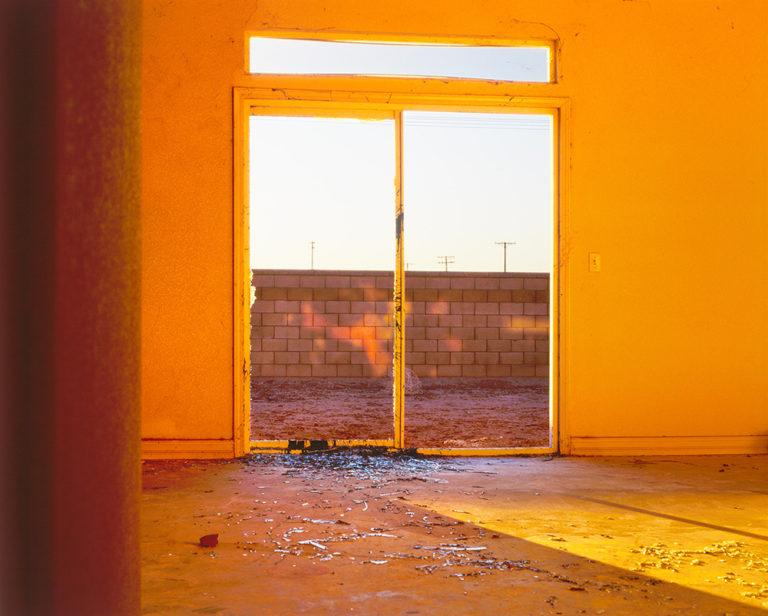 Light coming through glass doors