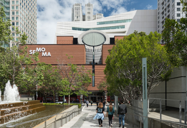 View of the 3rd Street entrance to the new SFMOMA