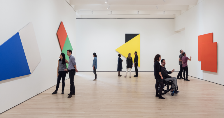 Installatin view, Approaching American Abstraction Ellsworth Kelly
