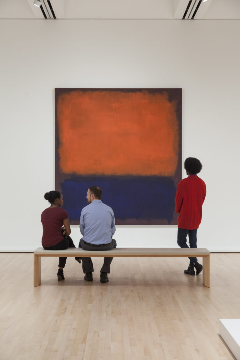 SFMOMA galleries with visitors