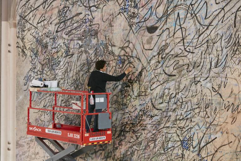 Julie Mehretu at work