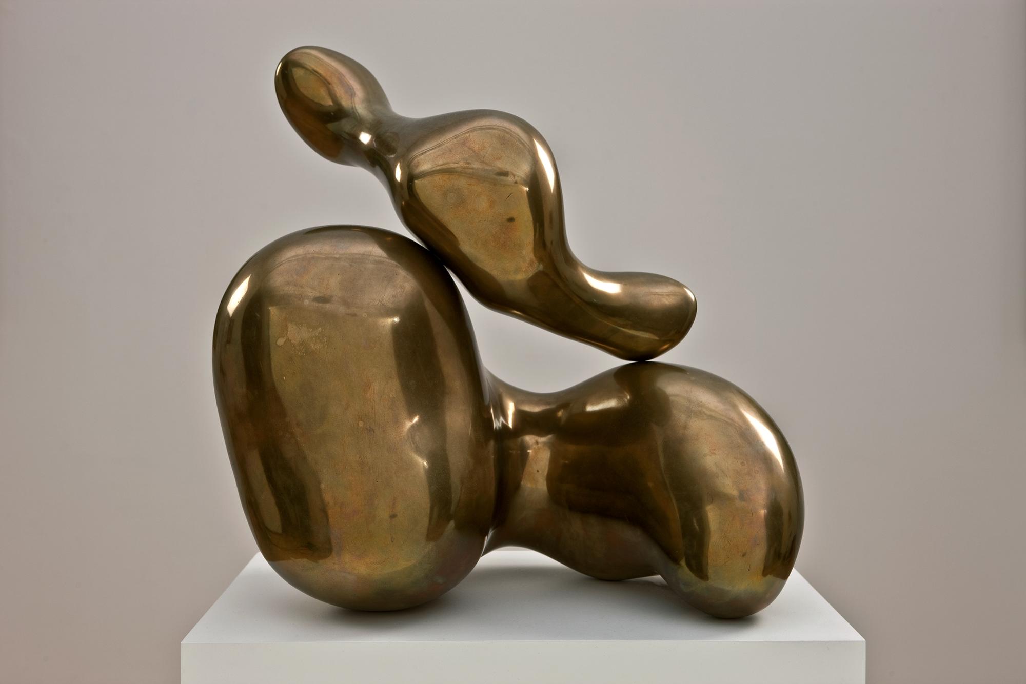 A bronze abstract sculpture, Jean Arp