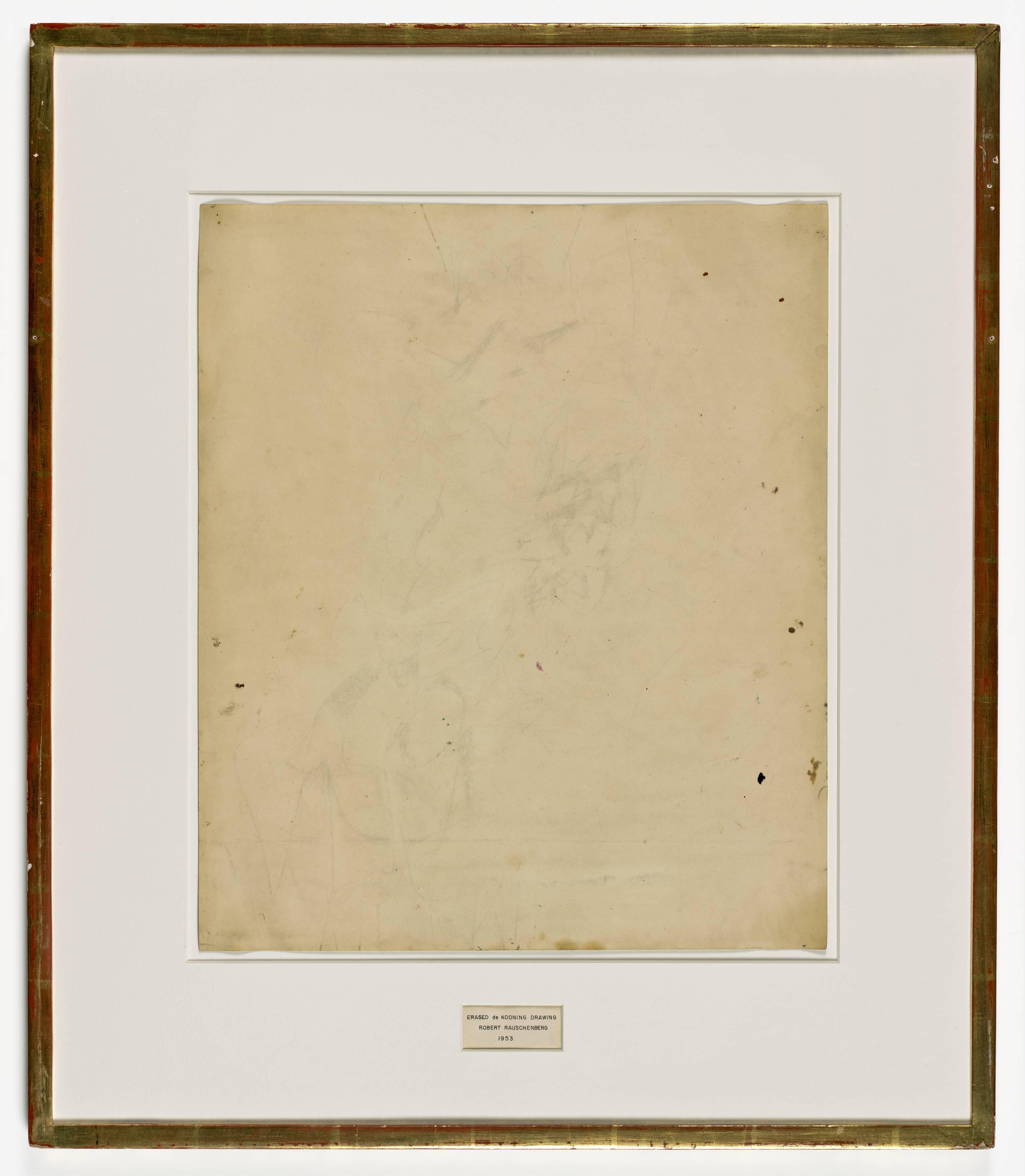robert rauschenberg erased de kooning drawing 1953 sfmoma