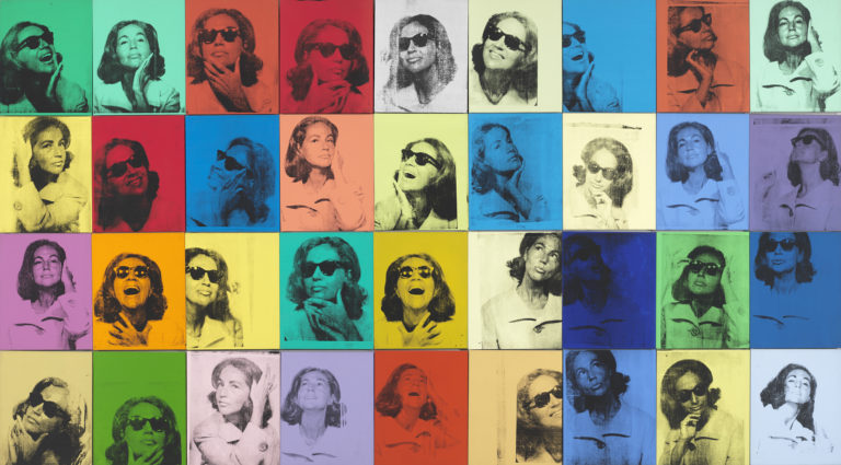 36 silk-screened portraits of Ehtel Scull in various colors